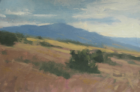 Frank Hobbs Paintings: Recent oil on rag paper