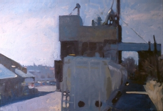 Frank Hobbs Paintings: Urban Oil on canvas