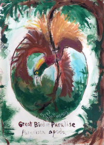 Fred Adell - Wildlife Artist Works on Paper mixed media (ink, watercolor, oil pastel)