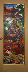 Fred Adell - Wildlife Artist Wildlife of Nevada Mural