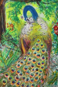 Fred Adell - Wildlife Artist Works on Paper mixed media -- ink, tempera, oil pastels on illustration board