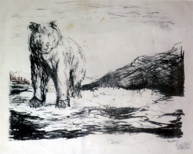 Fred Adell - Wildlife Artist Bears Lithograph