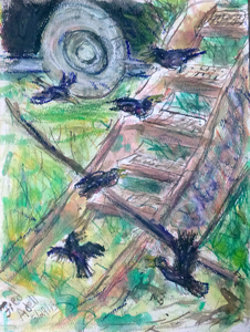 Fred Adell - Wildlife Artist Works on Paper Mixed media (ink, watercolor, tempera, oil pastel)