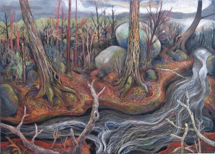 Gabrielle Barzaghi                     DRAWINGS Dogtown (Woodlands) Pastel