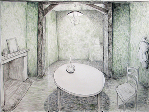 Gabrielle Barzaghi                     DRAWINGS Projects Ink and Watercolor on Paper