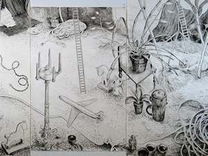 Gabrielle Barzaghi                     DRAWINGS Invasion (2014 / 2015)