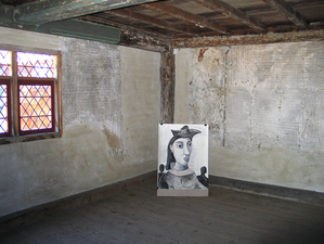Gabrielle Barzaghi                     DRAWINGS The Picasso Women Visit the White-Ellery House (A Drawing Installation)