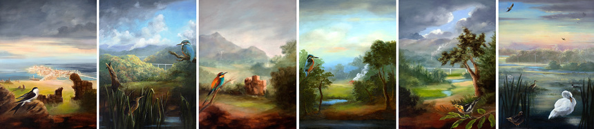 Gail C. Boyajian Paintings oil on panel
