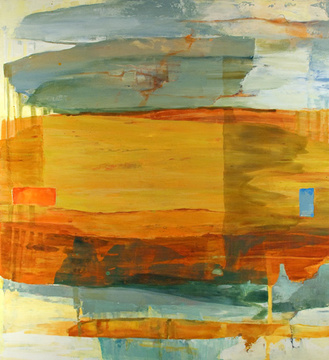 "Gail Salzman . Contemporary Paintings Soundings oil on aluminum panel, 48"" x 44"""
