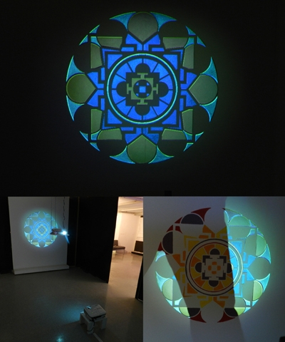 "Digital Files of Artists Eric Valosin, ""Hyalo,"" 37"" x 37"", Acrylic Paint and Digital Projection Installation, 2012"