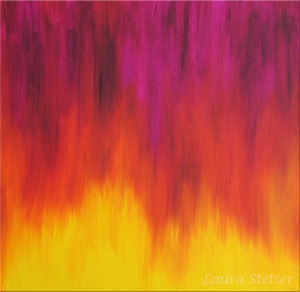Digital Files of Artists Laura Stetser, Fire, 24x24, Oil on canvas, 2011