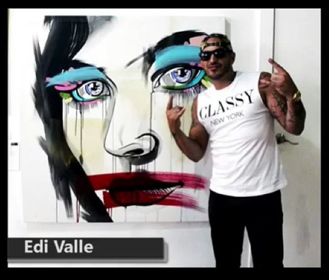 Digital Files of Artists Edi Valle, stare,58x58, waterbase acrylic on canvas, 2013