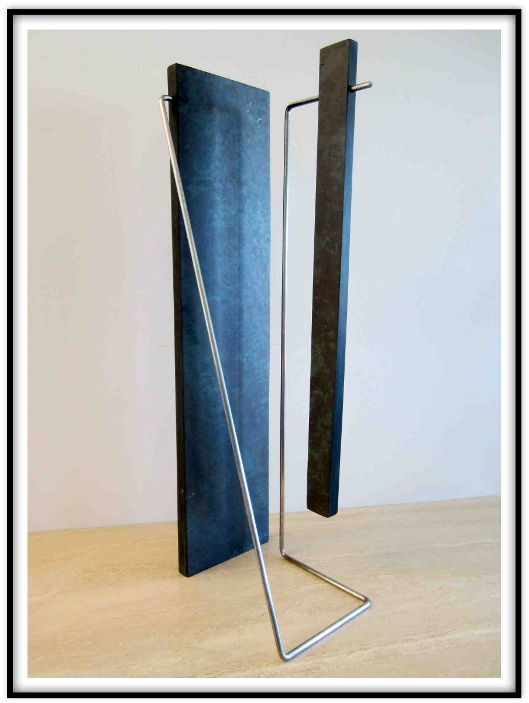 Digital Files of Artists Paul Maus, Untitled 5,slate stainless steel,8x30x9 inches,1994