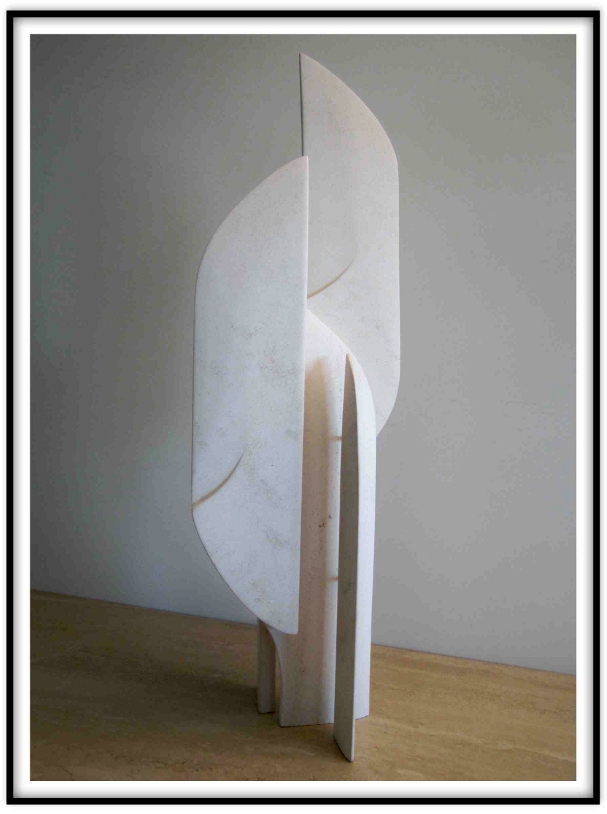 Digital Files of Artists Paul Maus, Untitled 2*, 9x29x8 inches,limestone,steel,1996