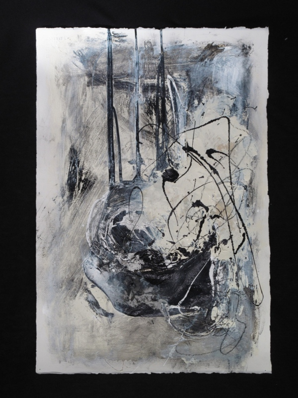 Digital Files of Artists ellen hallie schiff; Prey; 22 x 15; enamel, tape, crayon on paper; 2013