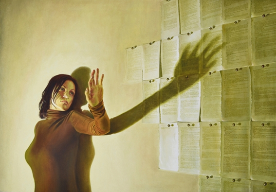 Digital Files of Artists FerdinandoDiMaso,Indeleble shadow,39,4x27,6inch,oil on canvas,2013