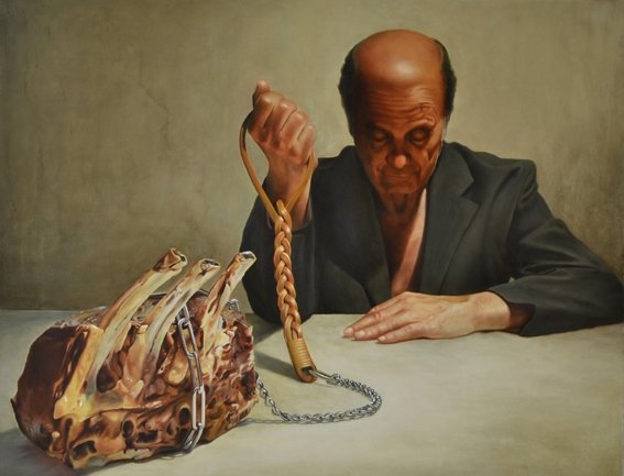 Digital Files of Artists FerdinandoDiMaso,portrait of my secret friend,23,6x31,5inch,oil on canvas,2012