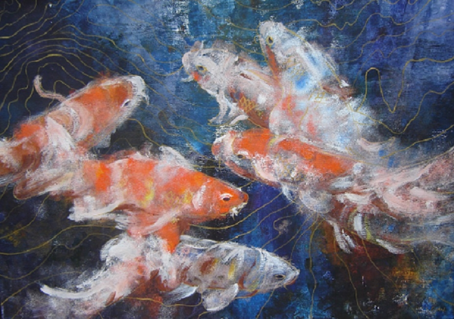"Digital Files of Artists Sirun Guan, Koi Koi, 22""*30"", acrylic on board, 2012"