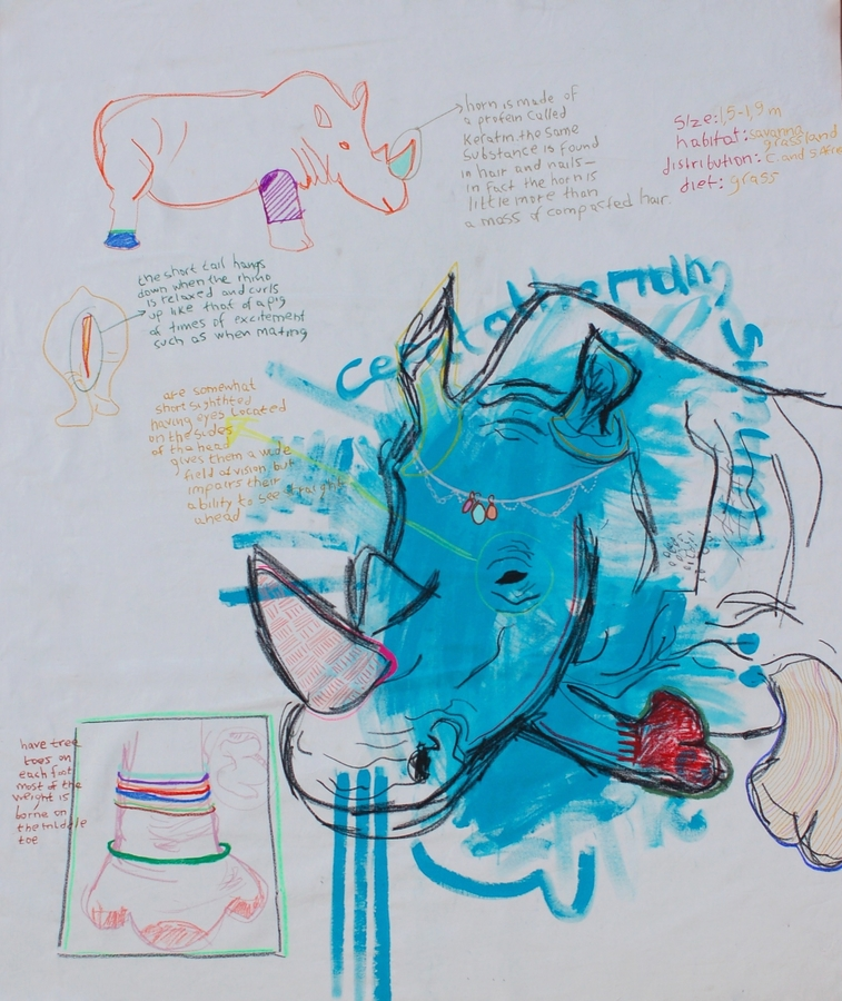 Digital Files of Artists nefeli tsantaki,untitled,1.55x1.90cm,acrylic and oil pastel on canvas,2014