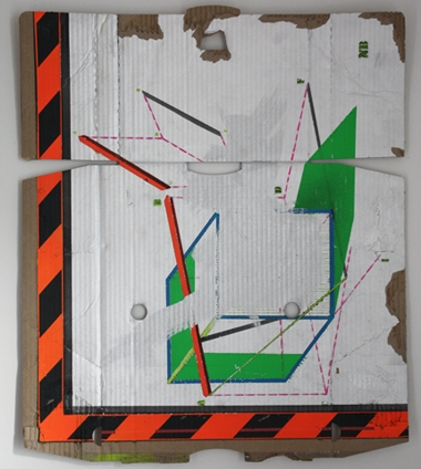 Digital Files of Artists Faber_Lorne_NotaBene! #1. 2011-2014 Spray can on cardboard. 45x55cm.