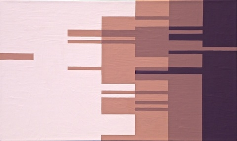 "Digital Files of Artists Ashley DuRoss, High Speed Spree Conscious Choice Trance, 18"" x 30,"" interior house paint on canvas, 2013"