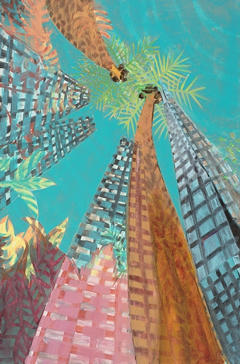 Digital Files of Artists Fay McCloskey, Shard on Holiday!, 60cm x 90cm, acrylic on canvas, 2013