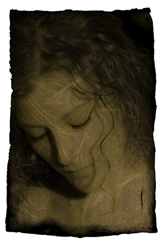 Digital Files of Artists Ekaterina Bykhovskaya, Martina with a Lock of Hair, 12x8, ink jet print, 2011