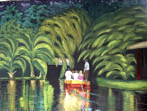"Digital Files of Artists Nataliya Scheib, Boat Ride, 36"" x 48"", Oil on Canvas, 2012"