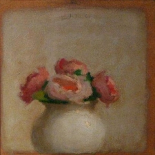 Garvey Rita  Art & Antiques Robert Kulicke (1924-2007)  Oil on silk mounted on masonite