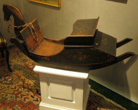 Garvey Rita  Art & Antiques 19th Century Painted Platform Rocking Horse