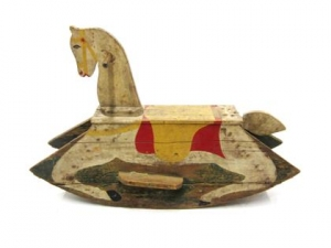 Garvey Rita  Art & Antiques Painted Wooden Rocking Horse Painted wood