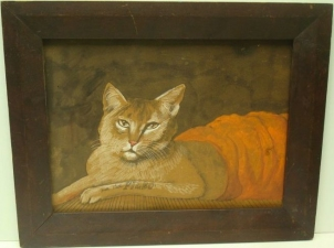Garvey Rita  Art & Antiques Our Cat Filbo Mixed media on paper