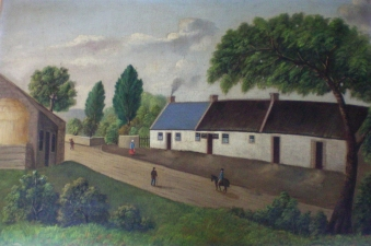 Garvey Rita  Art & Antiques 19th Century Folk Painting Oil on board
