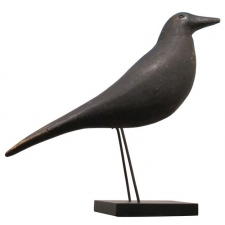 Garvey Rita  Art & Antiques Charles Perdew (1874-1963) Crow Decoy Painted wood,glass and wire