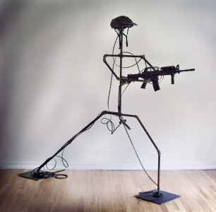 Gary DiBenedetto Kinetic Sound Sculptures steel, plastic, audio technology  2006