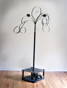 Gary DiBenedetto Kinetic Sound Sculptures steel, plastic, audio technology