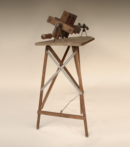 Gary DiBenedetto Kinetic Sound Sculptures Found objects, wood, steel, audio technology