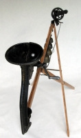 Gary DiBenedetto Kinetic Sound Sculptures Found objects, wood, brass, steel, audio technology