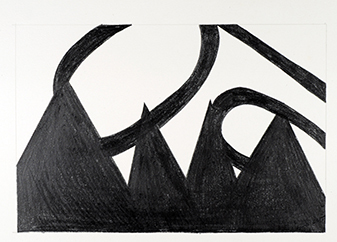 Gary Kret Drawings 1989 -1999 Graphite Stick on Reeves