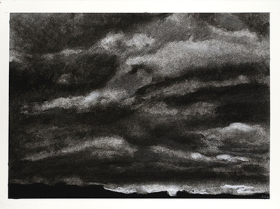 Gary Kret Landscape Drawings  Charcoal on Paper