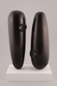 Gary Kret Sculpture  Turned Maple, Black Aniline Dye,Wax Finish