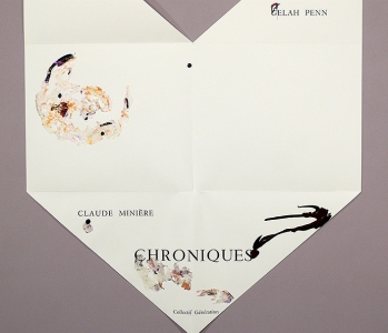 "Gelah Penn ""Chroniques #1"" Page size ranges from 9 1/2"" x 10 1/2"" closed, to 26"" x 19 1/2"" open."