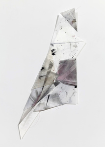 Gelah Penn Constructed Drawings Graphite, monofilament, acrylic, lenticular plastic on Yupo