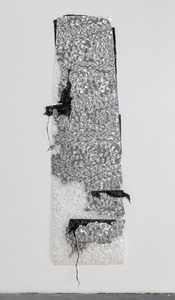 Gelah Penn Constructed Drawings Plastic garbage bags, metal staples & eyelets on lenticular plastic