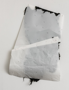 Gelah Penn Constructed Drawings Plastic garbage bags, metal staples & eyelets