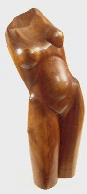 George Megrue Wood carved black walnut