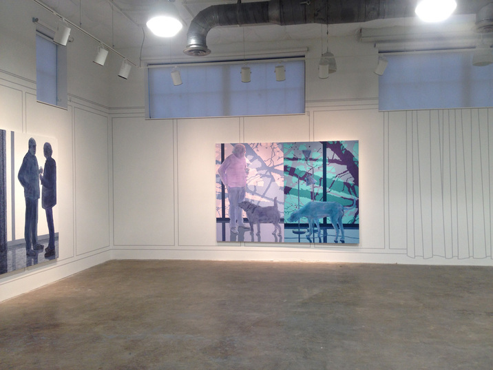 George Rush 2013-2017 Paintings and wall drawing