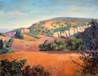GEORGE TAPLEY (home)          Clark Park & Coyote Hills oil/canvas