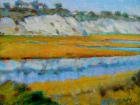 GEORGE TAPLEY (home)          Back Bay & Newport Beach oil/panel