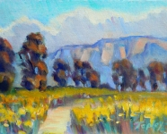GEORGE TAPLEY (home)          Clark Park & Coyote Hills oil on panel